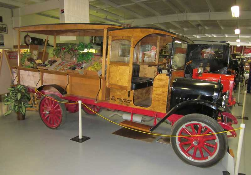 by: BARBARA SHERMAN - ONE-STOP SHOPPING IN ITS DAY - This 1917 Maxwell Peddler's Truck carried produce around so people could choose fruits and vegetables from the convenience of their neighborhoods.
