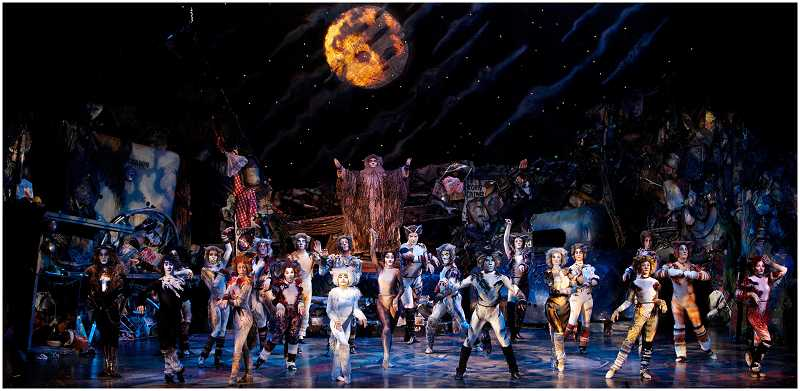by: CRAIG MITCHELLDYER/BROADWAY ROSE THEATRE COMPANY - DANCING WITH TAILS AND PAWS - The amazing costumes and sets that are part of Broadway Rose's production of 'CATS' are rented from Musical Theatre West, but the dancers and actors are all Broadway Rose-hired.