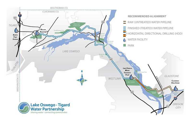 Pamplin Media Group Proposed Water Pipeline To Run Through West Linn