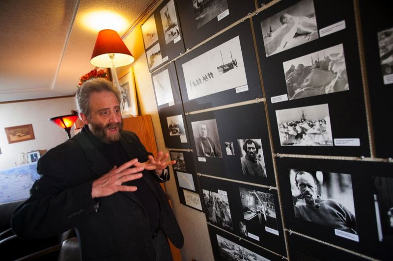 by: CHRISTOPHER ONSTOTT/TRIBUNE PHOTO - Lawrence Howard has been invited to take his well-crafted solo show, 'Shackleton's Antarctic Nightmare,' to the United Solo Festival in New York City. Howard has long been fascinated by Shackleton's adventures.