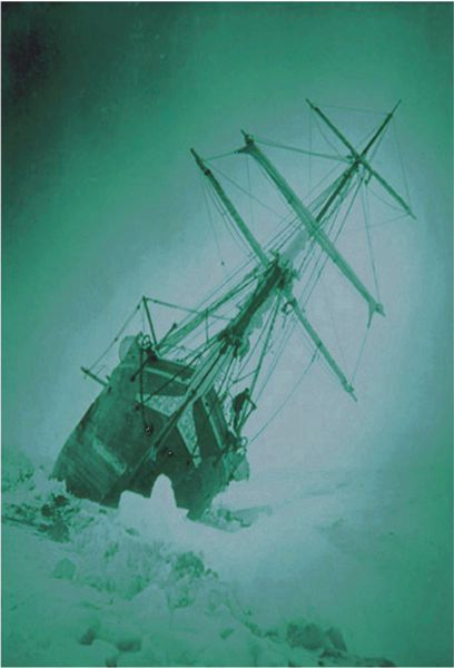 by: COURTESY OF LAWRENCE HOWARD - Sir Ernest Shackleton and his crew lived on the ice-trapped 'Endurance' for 10 months, and several more months on ice on an ill-fated trip to Antarctica.