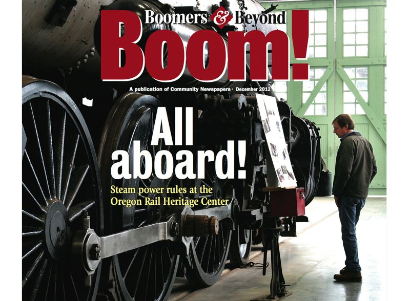 by: PHOTOS: JIM CLARK/PAMPLIN MEDIA GROUP - Karl Thompson checks out the Oregon Railroad & Navigation 197, a 1905 steam locomotive housed at the Oregon Rail Heritage Center.