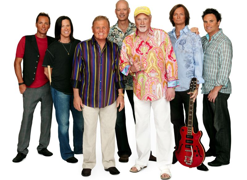 by: COURTESY OF BEACH BOYS - The latest incarnation of the Beach Boys, led by founding original Mike Love (right front) and longtime member Bruce Johnson (front left), will play their popular surf and car songs at Chinook Winds Casino and Resort in Lincoln City, March 1 and 2.