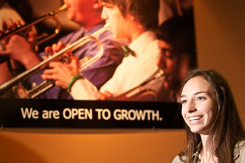 by: TIMES PHOTO: JAIME VALDEZ - Mariel Klein, a senior at Jesuit High School, found out during spring break that she was accepted to Harvard and received second-place in a national journalism competition.