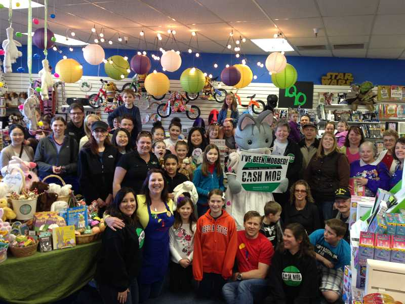 by: COURTESY OF AMBER GARDNER - MudPuddles Toys & Books was a recent recipient of Cash Mob Sherwood's economic infusion.