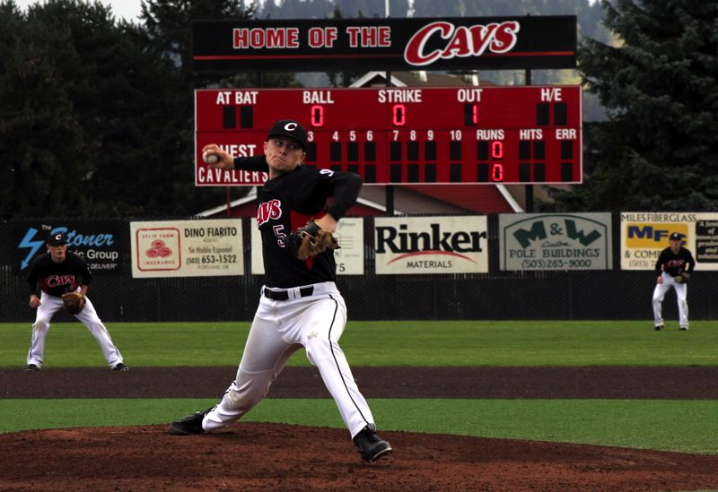 by: PHOTO BY RYAN LA GRANGE - Clackamas pitcher Austin Kelly