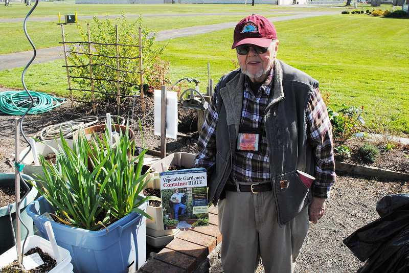 by: NEWS-TIMES PHOTO: STEPHANIE HAUGEN - Jerry Anderson plants vegetables and flowers in almost anything he find.