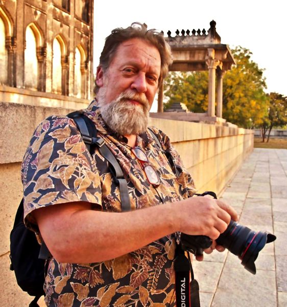 by: CONTRIBUTED PHOTO - Rod Stroh at work during his most recent trip to India.