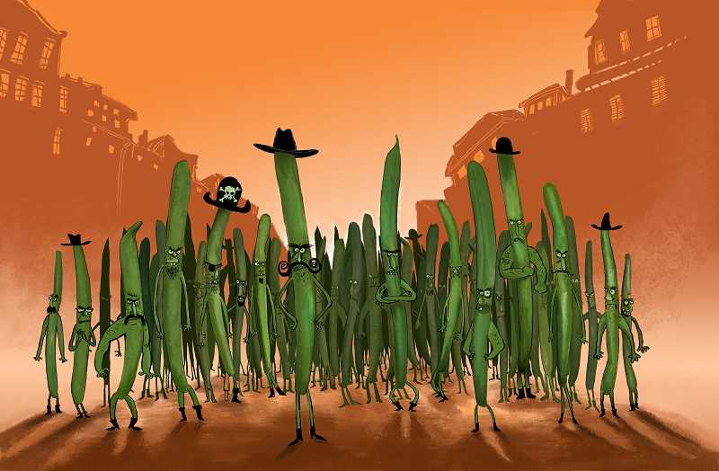 The Green Beans are major characters in the book.