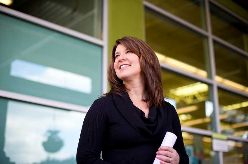 by: TIMES PHOTO: CHRISTOPHER ONSTOTT - Wendy Collie, New Seasons CEO and president, announced this week that it is a zero-waste company, according to an audit by PSU's Community Environmental Services program. That means stores are diverting 92 percent of their waste away from the landfill by recycling and composting.
