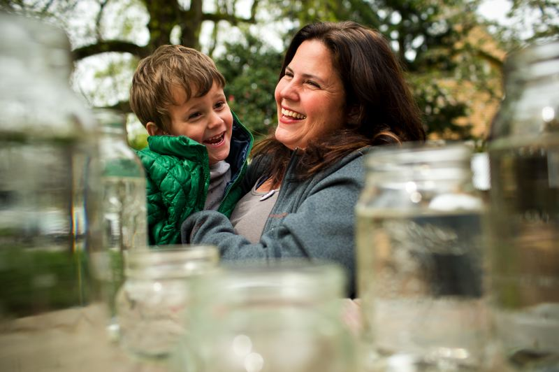 by: TRIBUNE PHOTO: CHRISTOPHER ONSTOTT - Anti-lead activist Tamara Rubin bathes her son Charlie, 4, in a lead-free sink, full of water that has gone through an extensive filtration system at their early-20th century home in Sellwood. Rubin argues that fluoride in the water system will increase the number of children being poisoned by exposure to lead.