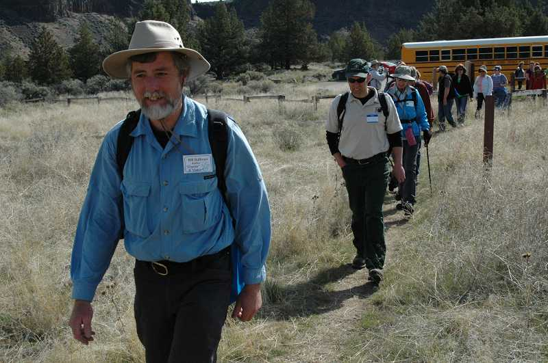 Bill Sullivan leads hikers from the Otter Bench Trailhead at Crooked River Ranch for a seven-mile trek.