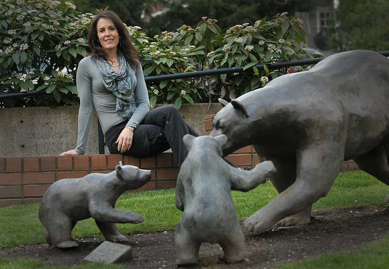 by: VERN UYETAKE - Kathi Inman Berens doesn't want future generations to miss out on experiences like seeing the brass bears in front of the Lake Oswego Public Library.