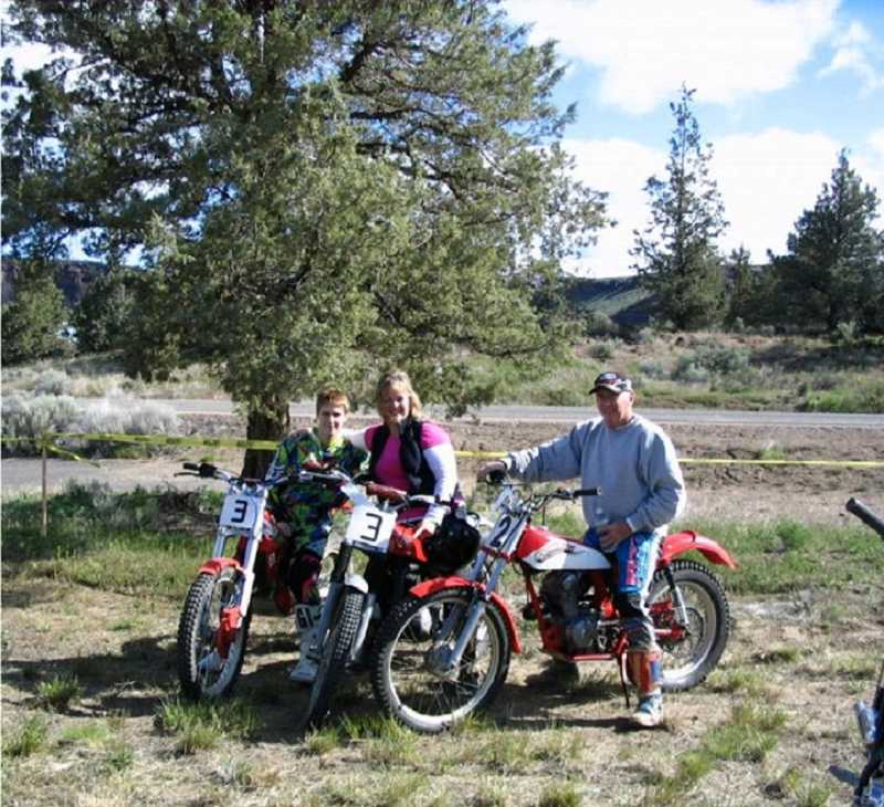 by: TERRI YEATES FOECKLER - Bill Yeates, who has been riding motorcycles for 60 years, enjoyed participating in last year's Steel Stampede with his daughter Valerie and grandson Jack, 18. This year's event will be held May 4 and 5 at Crooked River Ranch.