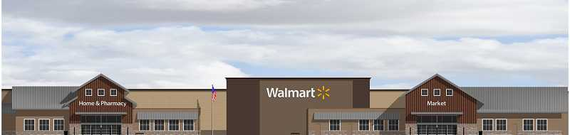 by: COURTESY OF GRAMOR DEVELOPMENT - This architectural rendering shows what the new Sherwood Walmart, scheduled to open sometime in 2014, will look like. The store is less than eight miles from a slightly smaller supercenter slated to open in Tigard at around the same time.