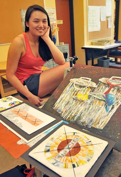 by: REVIEW PHOTO: VERN UYETAKE - Lake Oswego High School junior Amy Chen has garnered national awards in art and writing.