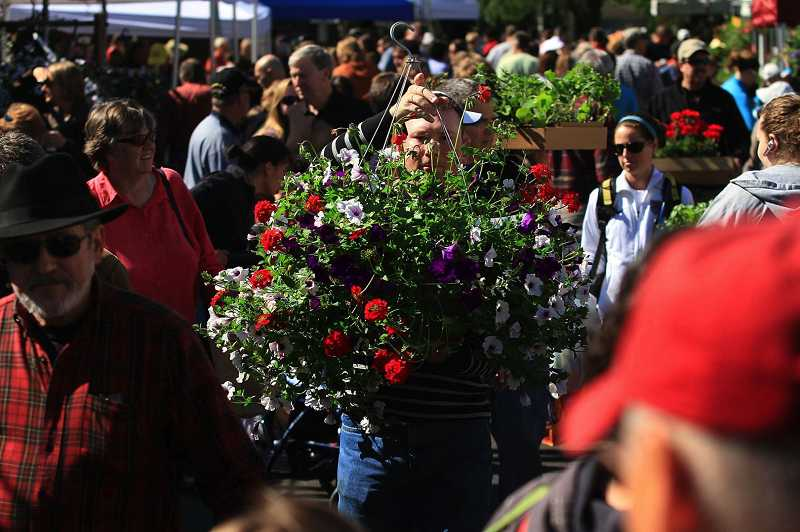 by: TIMES FILE PHOTO: JAIME VALDEZ - Looking for a gift for Mother's Day? The Beaverton Farmers Market opens its summer season on Saturday and offers an array of plants, hanging baskets and flowers in addition to sweet treats.