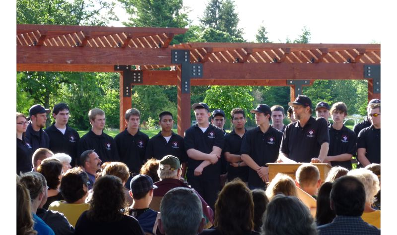 by: PHOTO COURTESY: CITY OF OREGON CITY - Oregon City High School's construction class helps out at city parks.