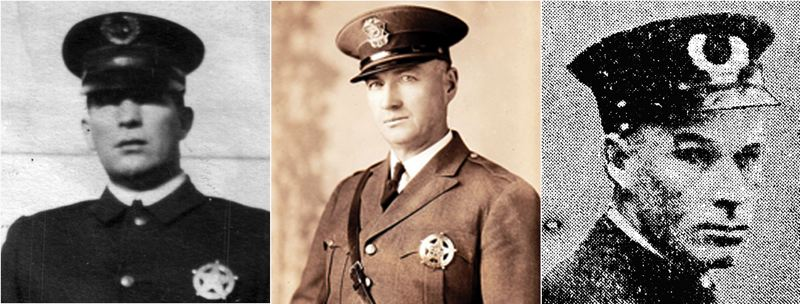 by: COURTESY OF PORTLAND POLICE BUREAU - The names of Portland police officers James David Wright, left, Gilbert H. Horton, center, and Glenn Logan Litzenberg, will be added to the Portland Police Memorial during a noon ceremony Tuesday, May 14, in Waterfront Park.