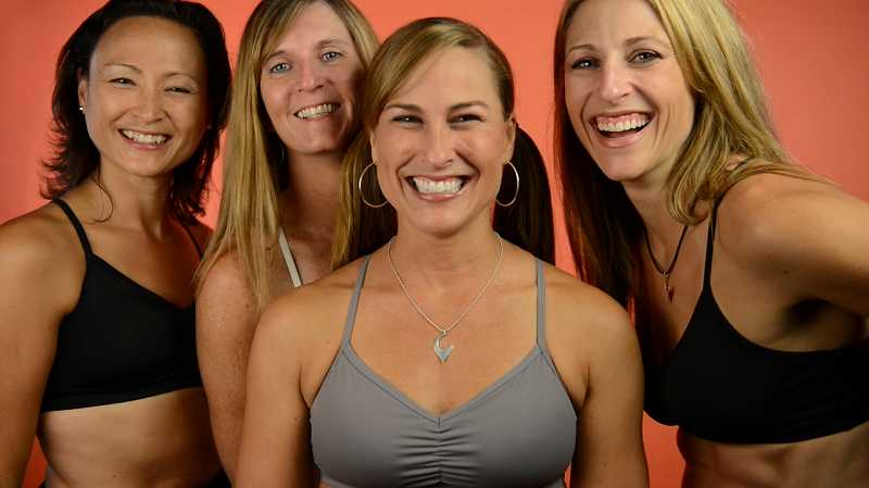 by: SUBMITTED - Handful Bra has been based in Tigard since its founding in 2006, but the team, made up of (from left to right) Cary Goldberg, co-founders Tina Thede, Jennifer Ferguson and Jody Filkins, announced in a video last week that they plan to bring production of their sports bras to Oregon for the first time.