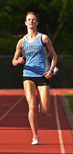 by: VERN UYTETAKE - Lakeridge's Kelly O'Neill added another accomplishment to her stellar running career with the Pacers when she broke the school record in the 800 last week.