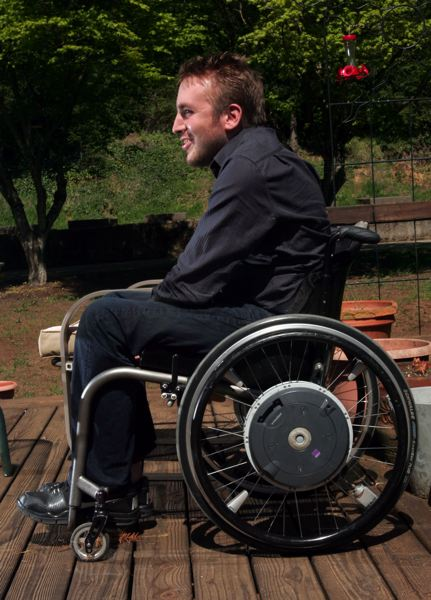 by: OUTLOOK PHOTO: JIM CLARK - A decade after a skiing accident on Mount Hood left him in a wheelchair, Kip Johnson, a Damascus resident and Barlow High grad, is focused on how he can help newly injured people connect with sports and housing.