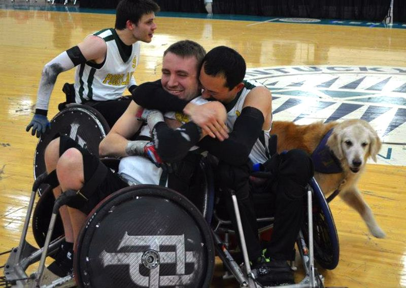 by: CONTRIBUTED PHOTO: - Johnsons wheelchair rugby team, the Portland Pounders, won the national championship in Louisville, Ky., in early April.