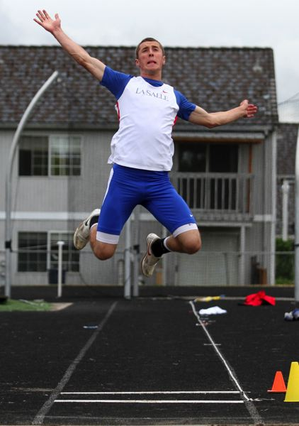 by: JONATHAN HOUSE - La Salle senior Mark Holenstein earned district titles in the long jump and 200-meter dash. He was also part of a relay team that won district and qualified for state.