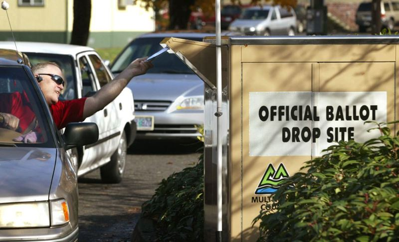 by: TRIBUNE FILE PHOTO - Ballots for Tuesday's special election have to be dropped off at one of nearly two dozen places around Multnomah County. Tuesday's ballot includes several school board races and the Portland water fluoridation issue.