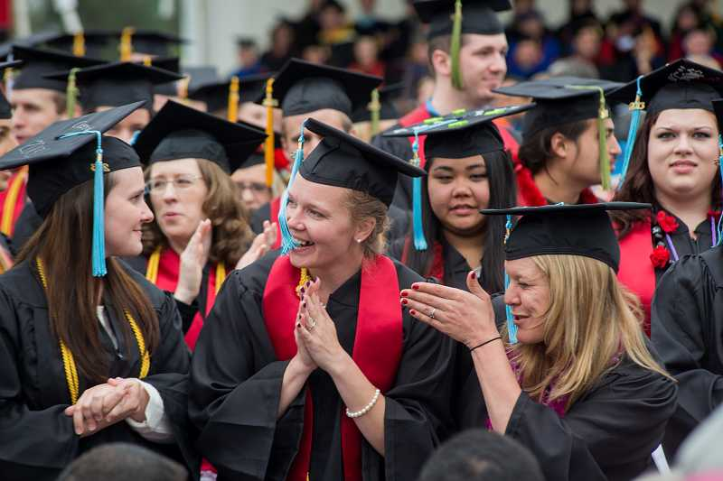 by: NEWS-TIMES PHOTO: CHASE ALLGOOD - Pacific University graduated hundreds of students last Saturday, May 18.