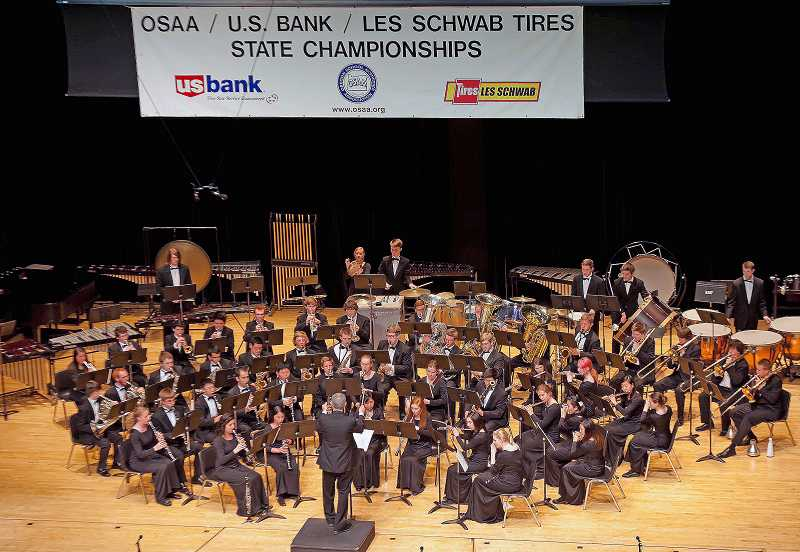 by: SUBMITTED PHOTO - Lake Oswego High School wind ensemble snagged first place at the Oregon School Activities Association state band championships.