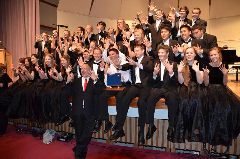 by: SUBMITTED PHOTO - Westside Christian High School students have snagged first place in the OSAA 3A division state choir competition for seven consecutive years.