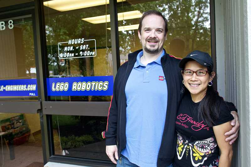 by: TIMES PHOTO: JAIME VALDEZ - Little Engineers owners Roger Collier and Czarina Boyce opened the company May 1 after years of summer camps and programs around Portland.