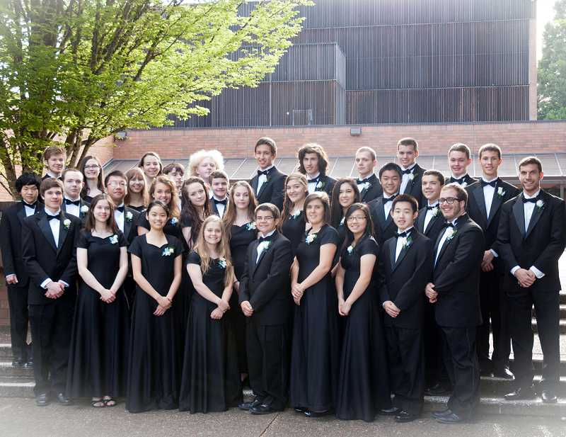 by: SUBMITTED PHOTO - The Lakeridge Wind Ensemble was one of an elite selection of groups that qualified to perform at the OSAA Championships in Corvallis.