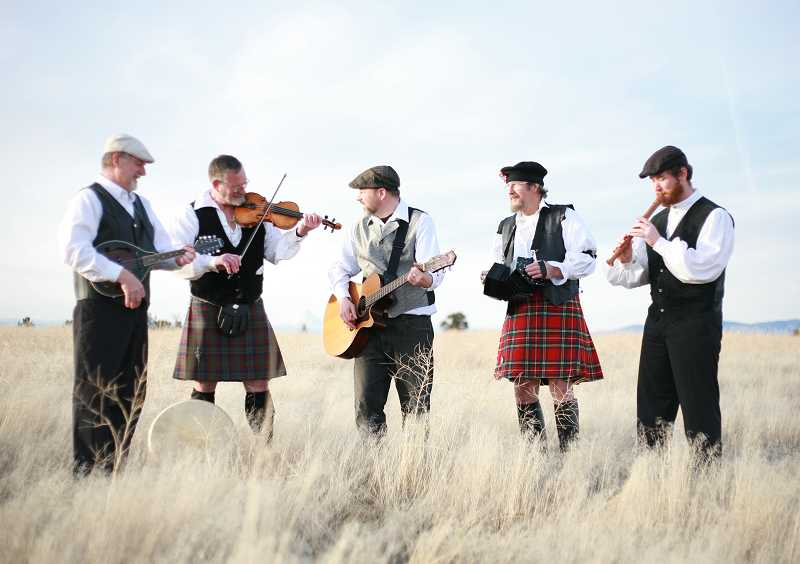 by: PHOTO COURTESY OF NICKY KRAUS - Triur Amada, an Irish, Celtic and folk group, will perform on Saturday. From left, band members include Royce Schlenker, Michael McGinnis, Kent Wright, Jon Granby and Joe Baumann.
