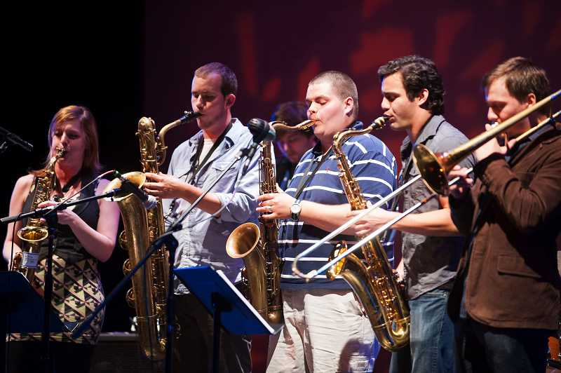 by: TIMES PHOTO: NICK FOCHTMAN - The ACMA Alumni Jazz Band performs.