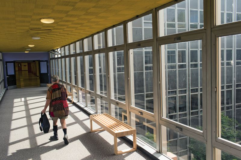 by: TRIBUNE PHOTO: CHRISTOPHER ONSTOTT - Portland State University officials appear unfazed that use the citys Education Urban Renewal Area fund to improve campus buildings like Neuberger Hall is in jeopardy.