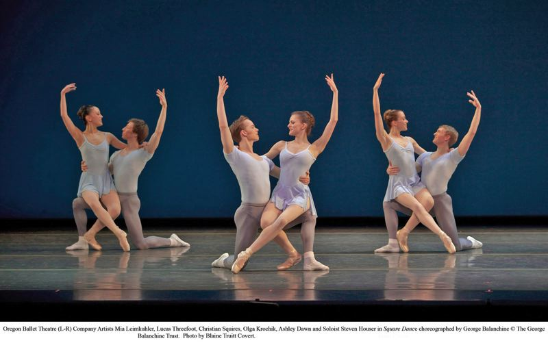 by: COURTESY OF BLAINE TRUITT COVERT - Members of Oregon Ballet Theatre perform Square Dance as part of their George Balanchine tribute, June 14-16 at Keller Auditorium.
