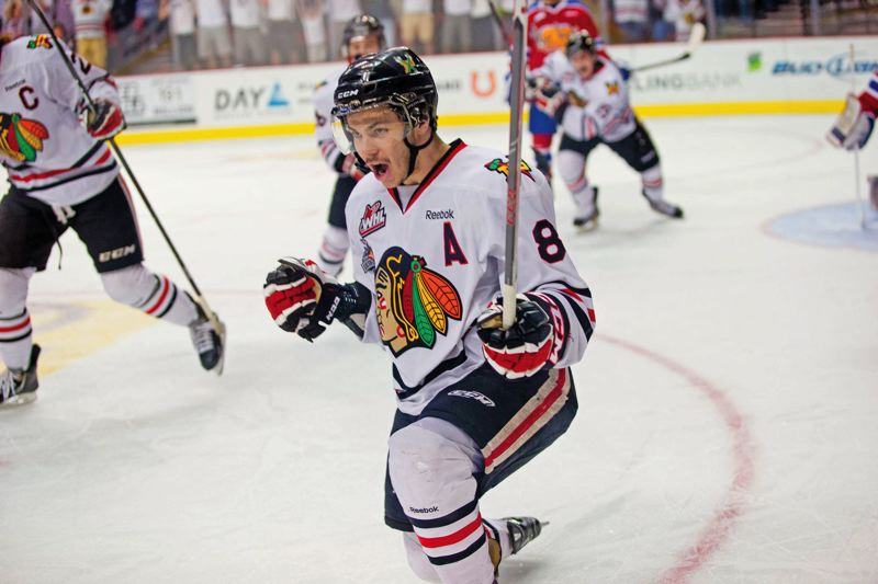 by: TRIBUNE FILE PHOTO: JAIME VALDEZ - Ty Rattie almost never was a Portland Winterhawk. But coach/GM Mike Johnston and team President Doug Piper talked him into coming to the Western Hockey League team.