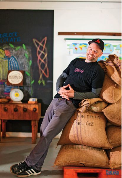 by: PAMPLIN MEDIA GROUP: CHRISTOPHER ONSTOTT - Woodblock Chocolate owner Charley Wheelock has gotten a buzz from the success of Salt & Straws ice cream with his ingredients.
