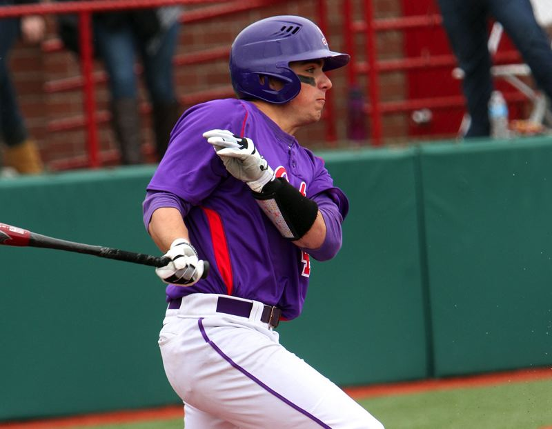 by: LINFIELD SPORTS INFORMATION/LEHIGH PHOTO - IN THE SWING OF THINGS -- Tualatin High School graduate Corey VanDomelen had a big year at the plate in helping the Linfield College baseball team reach the NCAA Division III finals.