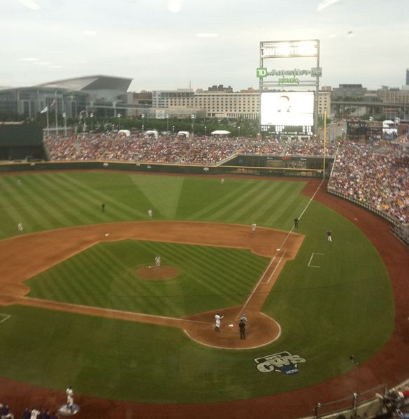 by: TRIBUNE PHOTO: KERRY EGGERS - TD Ameritrade Park gives the College World Series a modern home.