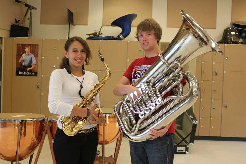 Pali Jordan, left, and Garrett Taylor will be touring Europe as music ambassadors. Also going is April Forman.