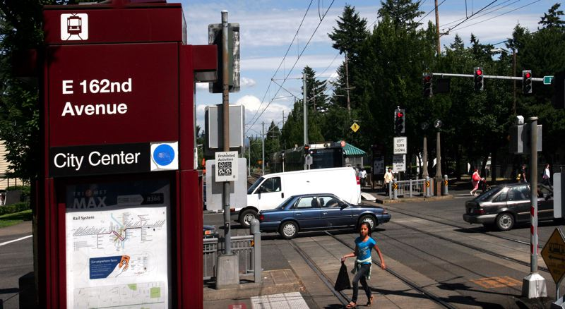 by: PAMPLIN MEDIA GROUP: JIM CLARK - A recent Metro audit calls for better policies to redevelop land around transit stations like this one at East Burnside and 162nd Avenue.