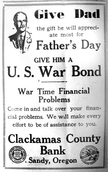 A Fathers Day gift suggestion from 1943.