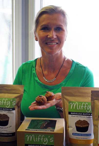 by: BARB RANDALL - West Linn resident Miffy Jones launched Miffys Marvelous Muffin Mix in April 2012. The mixes allow you to prepare healthful and delicious muffins in about 22 minutes.