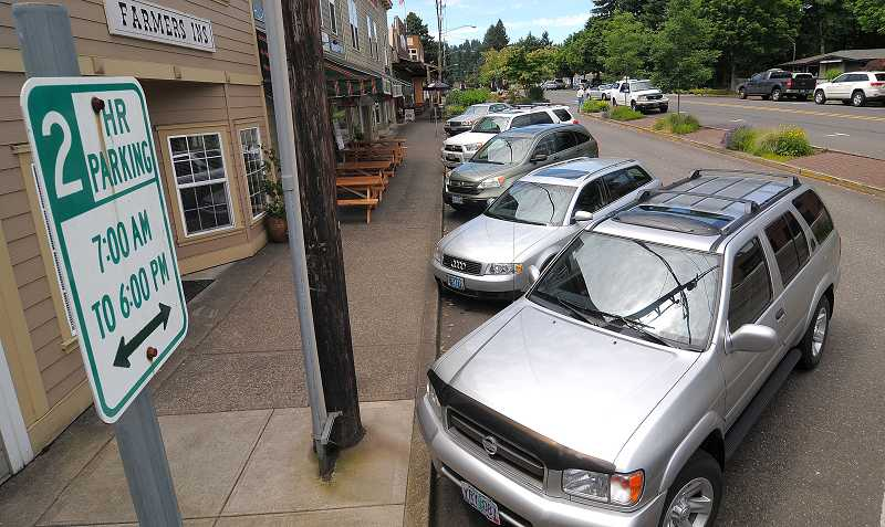 by: TIDINGS PHOTO: VERN UYETAKE - The city's parking study will focus on businesses in the 10th Street area.