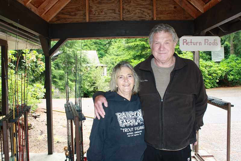 by: POST PHOTO: NEIL ZAWICKI - Mike and Marti Kaiser have made Rainbow Trout Farm a popular destination.