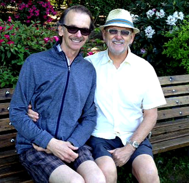 by: COURTESY OF BOB POWERS - Bob Powers, right, and his partner Don Clement, met 17 years ago in San Francisco. They were married in Vancouver, B.C., seven years ago.
