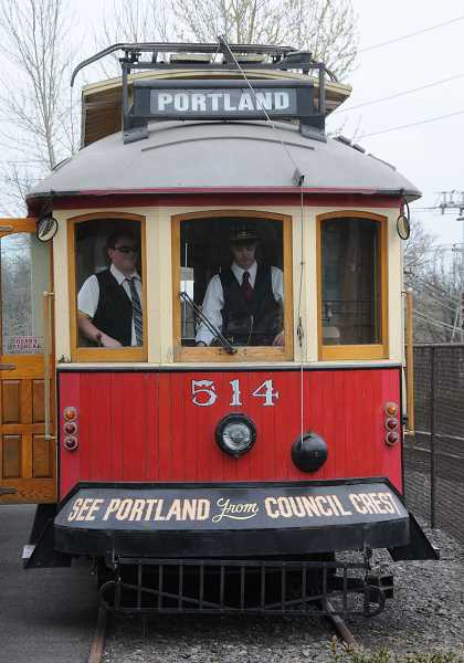 by: REVIEW FILE PHOTO: VERN UYETAKE - The Willamette Shore Trolley sits on the rails soon after it arrived in Lake Oswego in the spring. After a long hiatus, service is set to return next week.